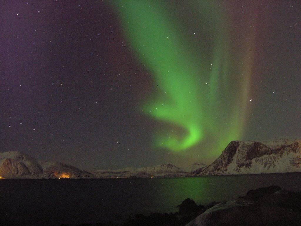 Noorderlicht reizen Tromso in Noorwegen