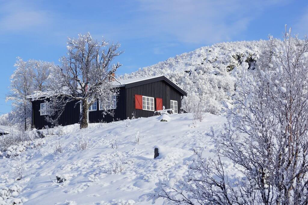 Skien in Noorwegen tijdens skivakantie