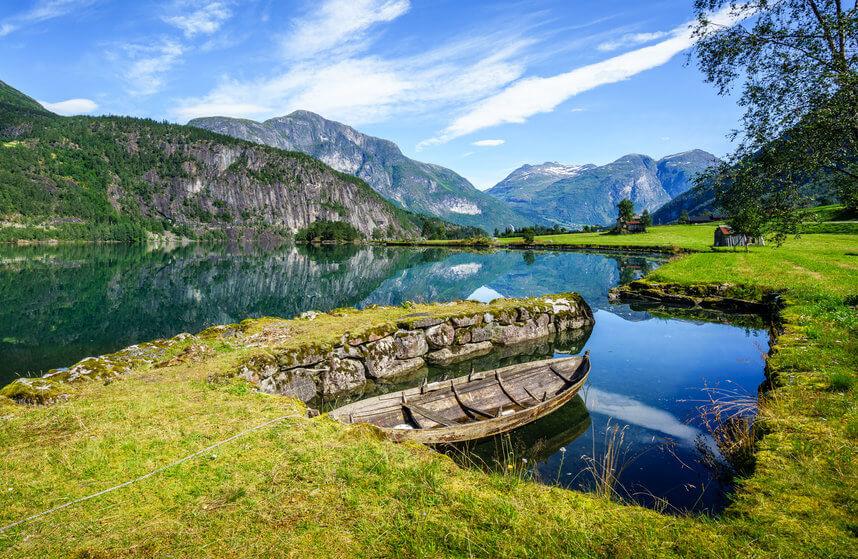 Vakantie fjorden in Noorwegen