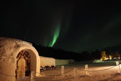 noorwegen ijshotel - sorrisniva igloo hotel
